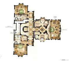 villa Luxury House Plans, Best House Plans, House Floor Plans, Craftsman Floor Plans, Modern Floor Plans, House Layout Plans, House Layouts, Architectural Floor Plans, Caribbean Homes