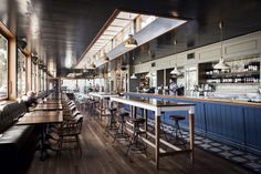The best cafe, bar and restaurant interiors of 2014 - Vogue Living Woolwich Pier Hotel (NSW) by SJB Interiors and Luchetti Krelle.