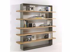 Open wooden bookcase CRAZY by Riva 1920 design Maurizio Riva, Davide Riva