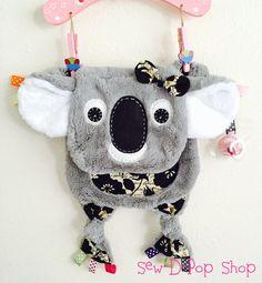 Koala Bear Baby Tag Security Blanket Lovey Pacifier you