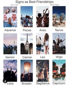 Friendship #zodiac #signs