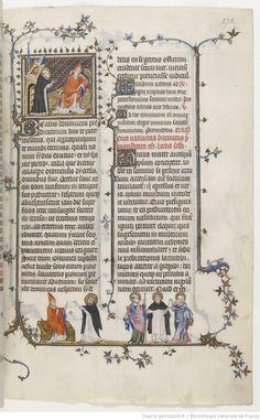 st Dominique retenant l'Eglise, 1265, Breviarium ad usum fratrum Predicatorum, dit Bréviaire de Belleville. Bréviaire de Belleville, vol. II (partie été), BNF Latin 10484, fol. 272,
