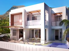 3d design - vray - 3ds max - architecture - architectural visualization - 3d renders - pool render Vray, 3ds Max, Mansions, Architecture, House Styles, Design, Home Decor, Arquitetura, Decoration Home