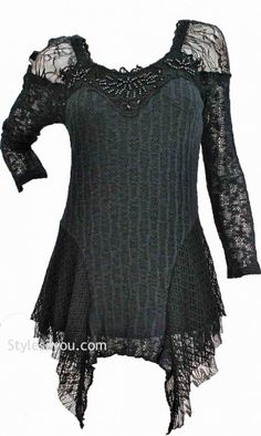 AP Lana Victorian Blouse In Black