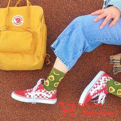 I literally have those avocado socks Cute Socks, Look Vintage, Aesthetic Clothes, Sock Shoes, Retro, Mens Fashion, Outfits, Vsco, Stylish