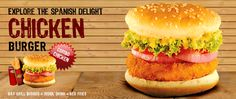 Chicken Burger #Pollito's chicken #burgers are flavorful, and quite #delicious. Served with Pollito's exclusive sauces.