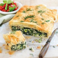 Silver beet, ricotta and broccoli pie - Healthy Food Guide Spinach Pie, Spinach Recipes, Broccoli And Cheese, Healthy Recipes, Healthy Food, Chard Recipes, Quiche Recipes, Pastry Recipes, Pie Recipes