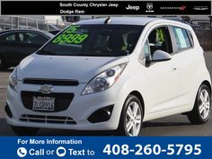 2015 *Chevrolet* *Chevy*  *Spark* *LS*  24k miles Call for Price 24823 miles 408-260-5795 Transmission: Automatic  #Chevrolet #Spark #used #cars #SouthCountyChryslerJeepDodgeRam #Gilroy #CA #tapcars