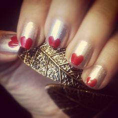 """Valentine's nails inspired by @lovemaegan's tutorial"""