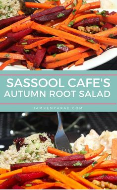 Sassool Cafe Autumn Root Salad Recipe  A surprisingly sweet root salad with a flavor (and color) pop. The colorful and flavorful combination is pretty to look at but even more vibrant on your taste buds.  #glutenfree #vegetarian #raleighNC #raleighrestaurants via @IamKenyaRae