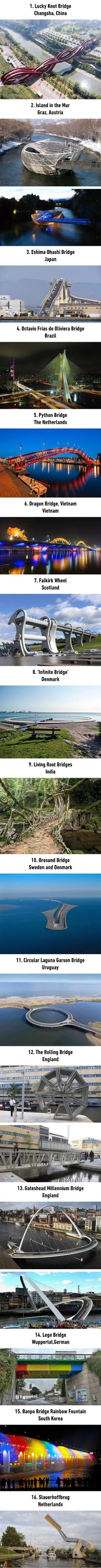 Special looking bridges around the world