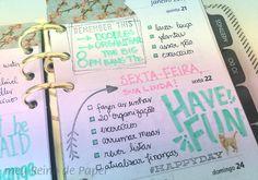 como decorar planner agenda decorado washi carimbo stamp flip through