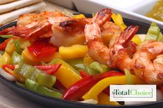 Total Choice Shrimp Fajita: Try this Mexican-inspired meal for an evening fiesta on a plate. Eat this recipe on the Total Choice 1600-calorie plan.