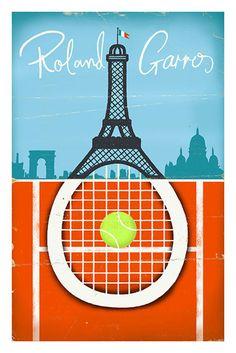 Image of Roland Garros Tennis Poster
