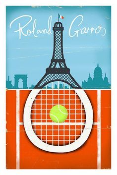 Image of Roland Garros Tennis Poster