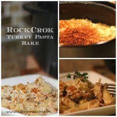 RockCrok Turkey Pasta Bake | Dish Over Dinner Great way to use up whats left of your turkey or chicken leftovers.