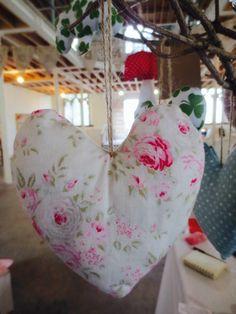 Handmade Lavender Filled Hanging Heart - Tilda Fabric