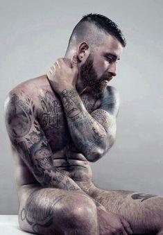 Hot! hairy men, beards, tattoos, tattoo sleeve. sexy men. hot men, muscle-bears