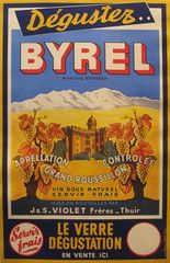 1940s Original French Art Deco Alcohol Poster, Byrel - Unknown