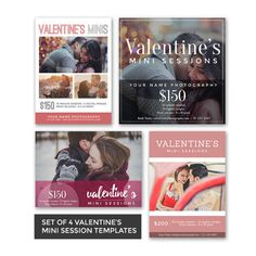 Set of 4 Couples Mini Sessions Template