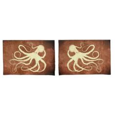 Octo 1 on Chocolate - Set Of Standard Pillowcases  $45.00  by inkgoeswildalaska  - custom gift idea