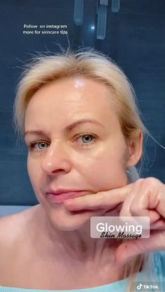 Face Yoga Exercises, Facial Yoga, Beauty Tips For Glowing Skin, Skin Care Routine Steps, Face Massage, Face Contouring, Massage Techniques, Face Skin Care, Cleansing Oil