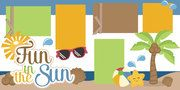 Fun in the Sun Scrapbook Page Kit (Free for SVG Kit Members)