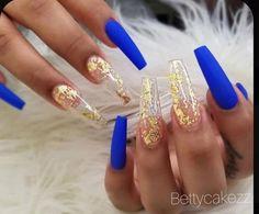 Royal Blue Nails Designs, Coffin Nails Designs Summer, Cute Acrylic Nail Designs, Gold Acrylic Nails, Coffin Nails Matte, Summer Acrylic Nails, Pink Coffin, Nails Kylie Jenner, Yellow Nails