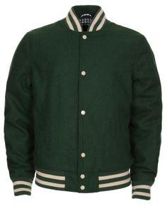19d92a0ec57 Men s Threadbare Green Varsity Jacket Was £39.99 Now £20.00 Varsity Jackets