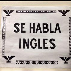 Se hablar ingles, hecho esta!