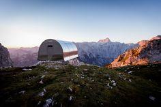 """Alpine Shelter """"Bivak II na Jezerih"""" / AO"""