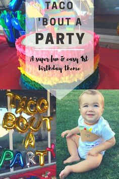 A super fun, easy first birthday fiesta theme!! Who doesn't love tacos & cake?! Pin for all your mama friends needing a cute birthday theme!