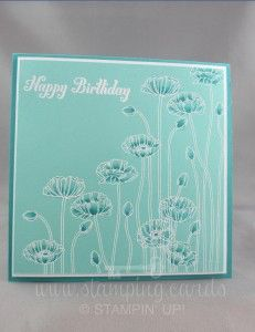 www.stamping.cards Pleasant Poppies Stampin' UP!