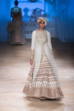 Lengha by Rimple and Harpreet Narula at ICW 2014 Indian Attire, Indian Wear, India Fashion, Asian Fashion, Indian Dresses, Indian Outfits, Desi Clothes, Indian Clothes, Indian Bridal Couture