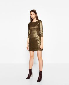 SHINY TAILORED DRESS-DRESSES-WOMAN | ZARA United States