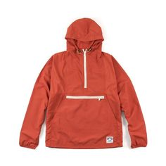 DQM - Shelter Island Anorak in Brick