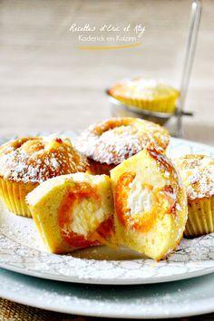 Dégustation muffins abricots à la vanille et crème mascarpone chez Kaderick en…