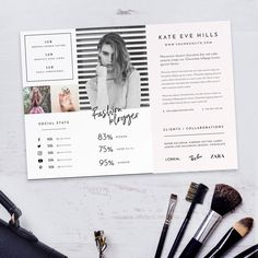 Beautifully designed Media Kit for Fashion, Lifestyle and Travel bloggers. This Photoshop template lets you edit images and text to make it unique to you, in just a couple of minutes!