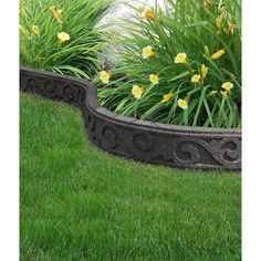 Multy Home Flexi Curve 4 ft. Gray Rubber Garden Edging (40-Pack) MT5001207 at The Home Depot - Mobile