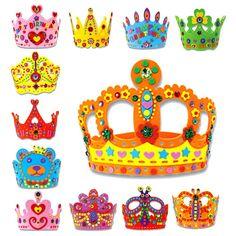 Random Delivered!!! 3D EVA Handmade Crown Craft Gifts Kits Birthday Crown DIY Hat Craft Toy Kid's Educational Toy
