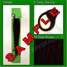 2 Dark Brown, 6 Inch Sample of Clip on in Human Hair Extensions Set >>> This is an Amazon Affiliate link. You can get additional details at the image link.