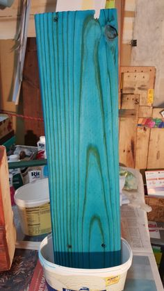 The Organic Evolution: A Stack of Newly Dyed Reclaimed Wood #RitDye
