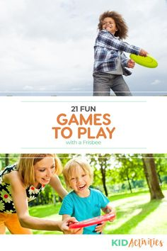 A collection of fun games to play with a frisbee. Great for the playground or the front yard. Games For Toddlers, Indoor Activities For Kids, Kids Learning Activities, Outdoor Games For Kids, Outdoor Learning, Summer Party Games, Summer Fun, Games For Little Kids, Church Games
