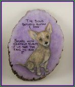 Hand Painted Basswood Puppy Plaque