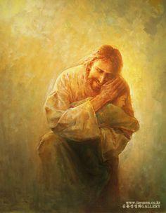 주 품에 2...In the arms of the Lord  2011년작 10호 F oil on canvas .. ....by Yongsung Kim