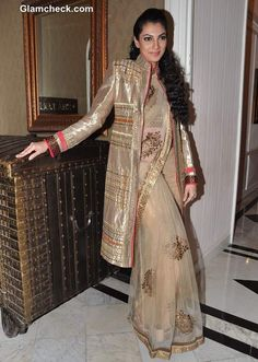 Royally well-dressed: Yukta Mookhey Shows How to Wear an Ethnic Coat with a Sari