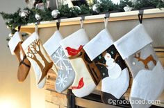 DIY felt stocking tutorial - don't need stockings but would be cute to frame as gifts
