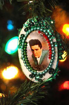 Christmas ornament at Elvis Presley's Graceland.
