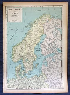 Germany or norway sweden finland denmark large map 1955 norway sweden and finland or japan manchukuo chosen large map 1941 new international atlas of the world vintage gumiabroncs Gallery