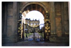 entryway to Chatsworth House, Derbyshire, England